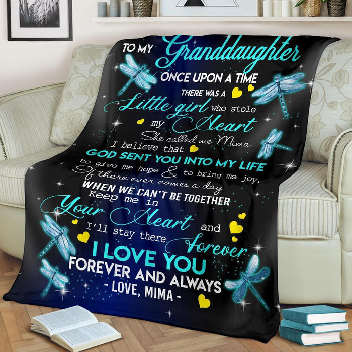 To My Granddaughter Dragonflies Mima Blanket My Soul and Spirit
