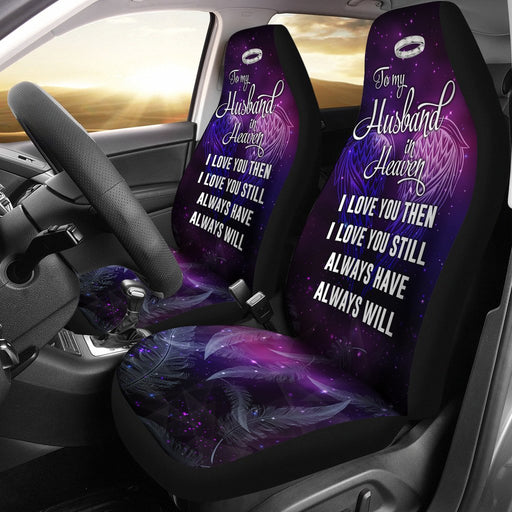 To My Husband In Heaven Car Seat Covers (Set Of 2) My Soul & Spirit