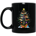 Turtle Coffee Mug Turtle Merry Christmas Tree 11oz - 15oz Black Mug CustomCat