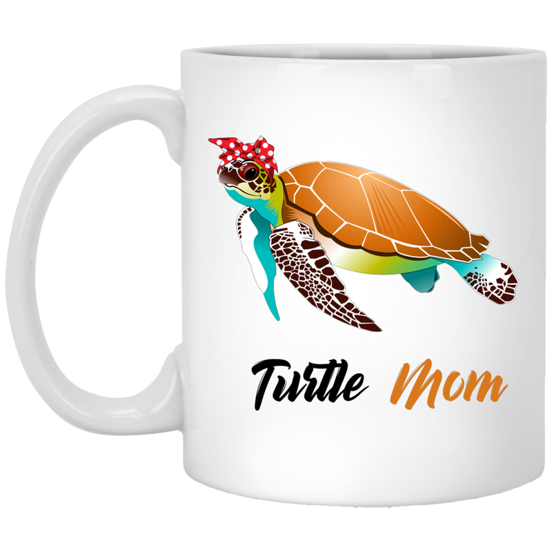 Turtle Coffee Mug Turtle Mom 11oz - 15oz White Mug CustomCat