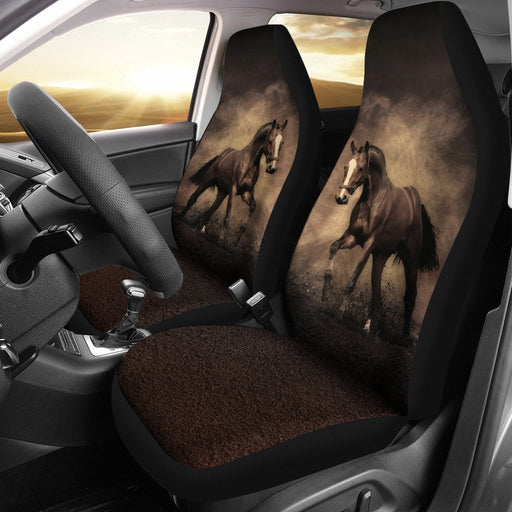 Unique Deisgn Of Black Horse Riding Car Seat Cover My Soul & Spirit