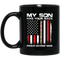 Usmc Veteran Coffee Mug My Son Has Your Back Proud Marine Mom 11oz - 15oz Black Mug