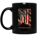 Usmc Veteran Coffee Mug Veteran One Nation Under God Usmc Veteran 11oz - 15oz Black Mug CustomCat