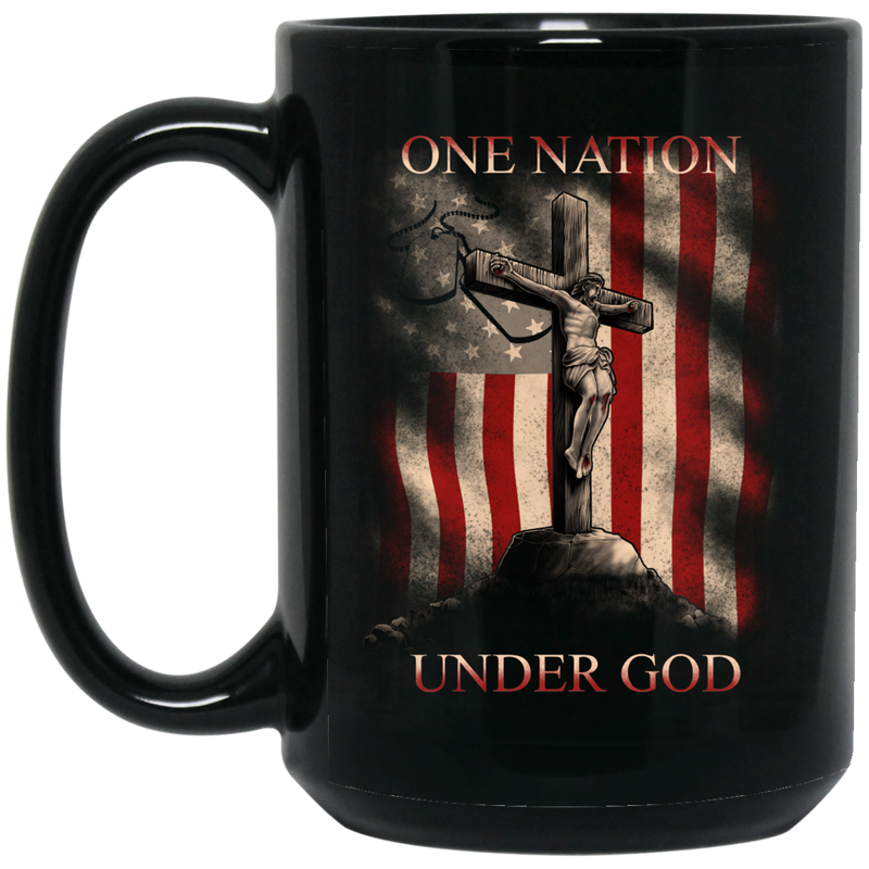 Usmc Veteran Coffee Mug Veteran One Nation Under God Usmc Veteran 11oz - 15oz Black Mug