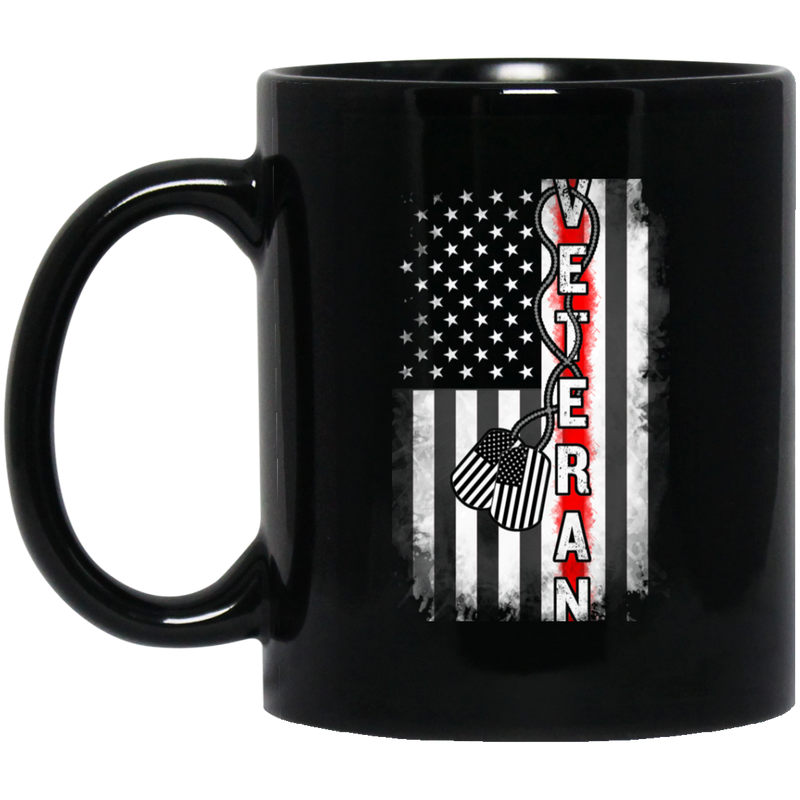 Veteran Coffee Mug Veteran American Flag 11oz - 15oz Black Mug CustomCat