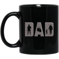 Veteran Coffee Mug Veteran Dad 11oz - 15oz Black Mug CustomCat