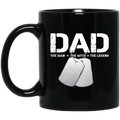Veteran Coffee Mug Veteran Dad The Man The Myth The Legend 11oz - 15oz Black Mug CustomCat