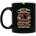 Veteran Mug PTSD Our Wounds Are Invisible It's Being Hyper Sensitive Anger Fear Grief Guilt 11oz - 15oz Black Mug CustomCat
