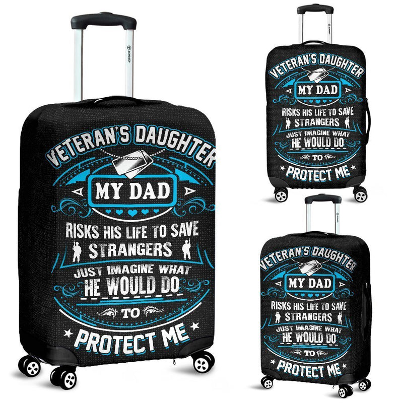 Veteran's Daughter Is Protected By Her Dad Luggage Cover interestprint