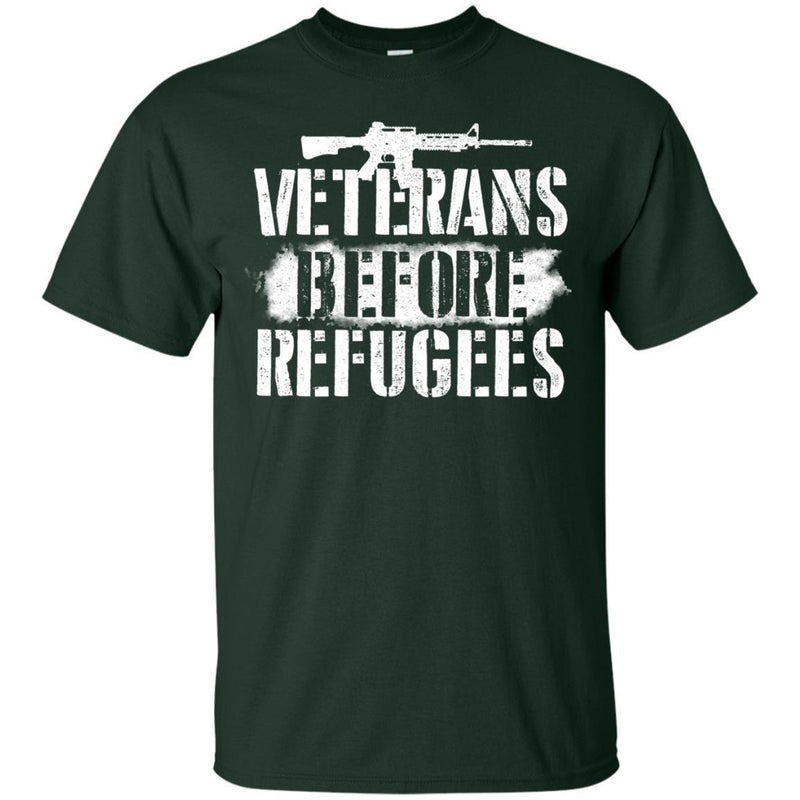 Veterans Before Refugees T-shirts & Hoodie for Veteran's Day CustomCat