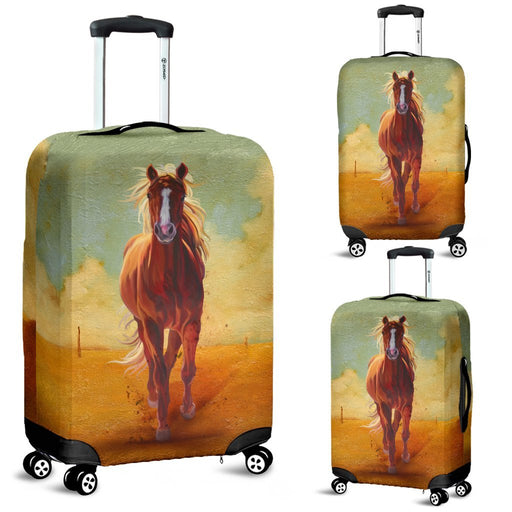 Vintage Horse Oil Painting Luggage Covers My Soul & Spirit