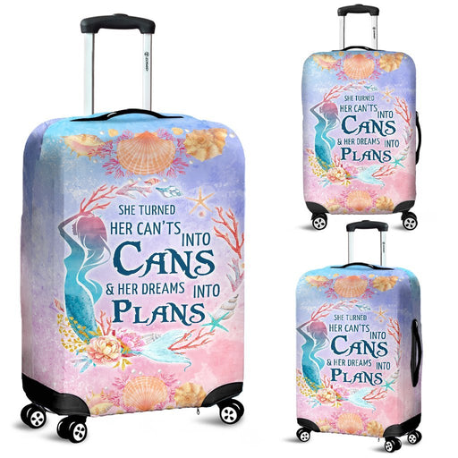 Vintage Luggage Covers Of Mermaid Plans My Soul & Spirit