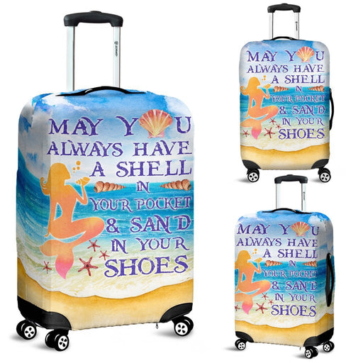Vintage Style Mermaid Habits Luggage Covers My Soul & Spirit