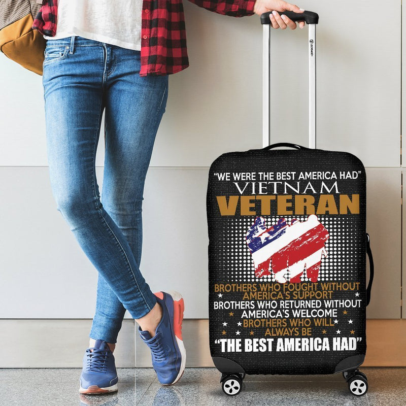 """We Were The Best America Had Vietnam Veteran"" Luggage Cover interestprint"