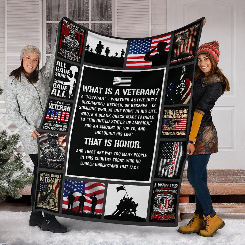 What Is A Veteran That Is Honor Blanket My Soul and Spirit