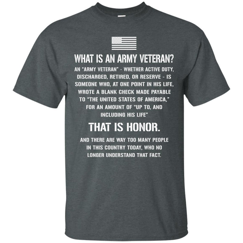 What Is An Army Veteran T-shirts & Hoodie for Veteran's Day CustomCat