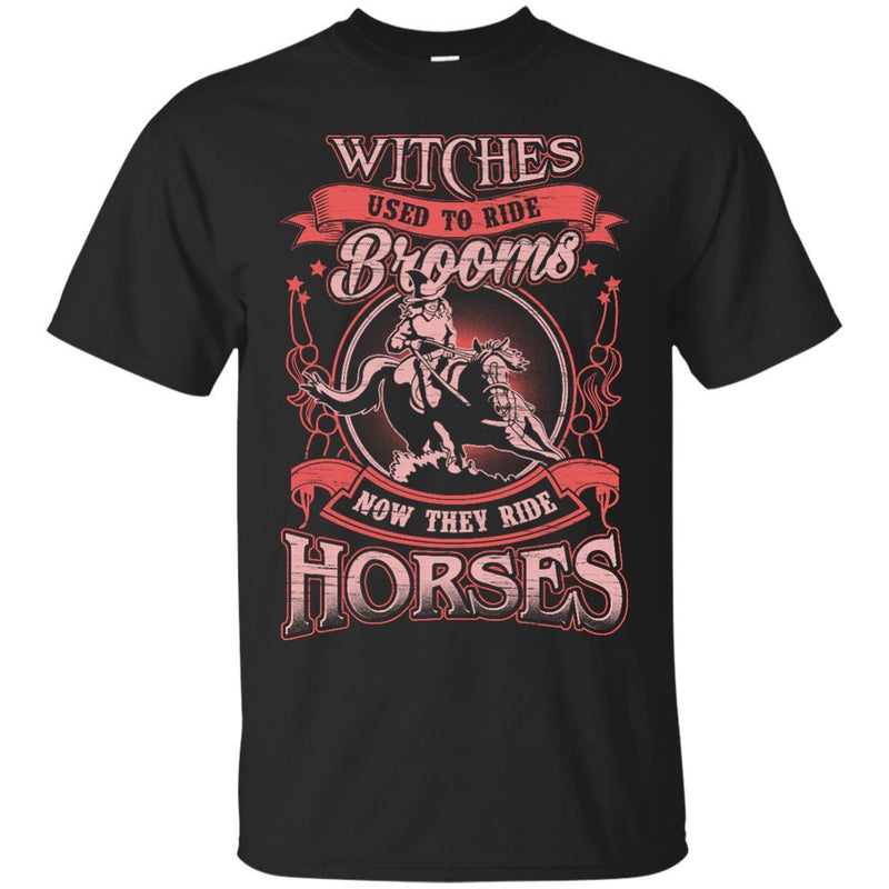 Wiches Ride Horses Tshirt For Halloween CustomCat