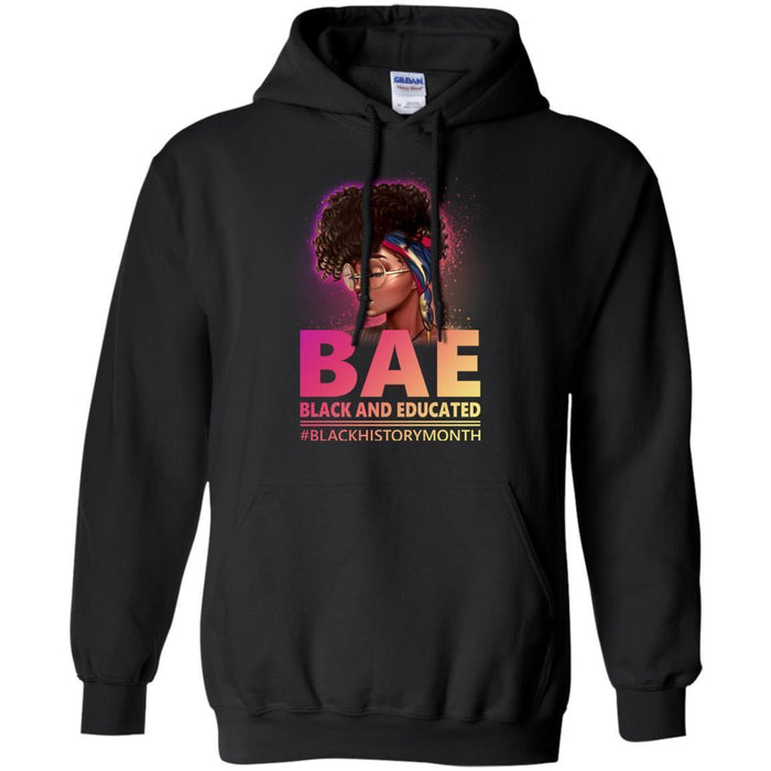 Womens BAE Black and Educated Black History Month T-Shirt CustomCat