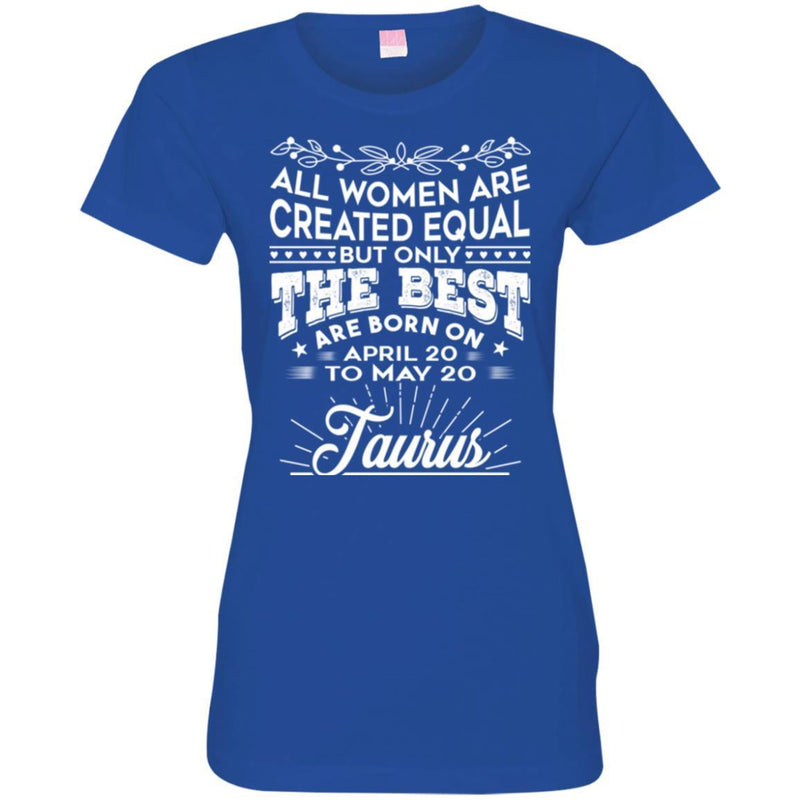 Zodiac T-Shirt All Women Are Created Equal But Only The Best Are Born On April-May Gemini Tee Shirt CustomCat