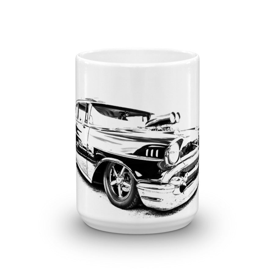 1957 Chevy Bel Air Street Machine - Will Glover Featured Artist - Mug made in the USA