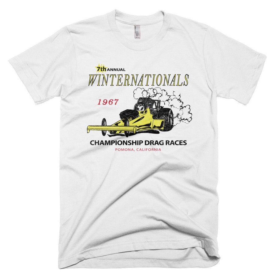 1967 Winter National Drag Races Pomona California - Modern Rodder - Men's T-Shirt
