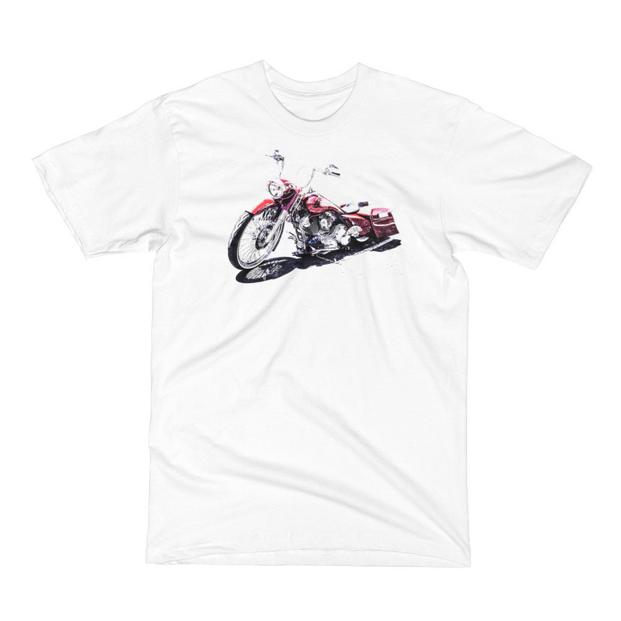Custom Harley Motorcycle - Will Glover Featured Artist - Men's Short Sleeve T-Shirt