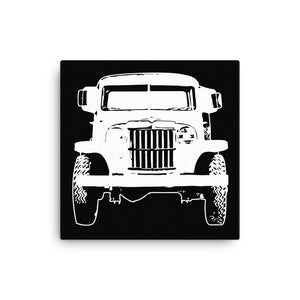 1962 Jeep Willys Pickup Truck - Modern Rodder - Canvas Print