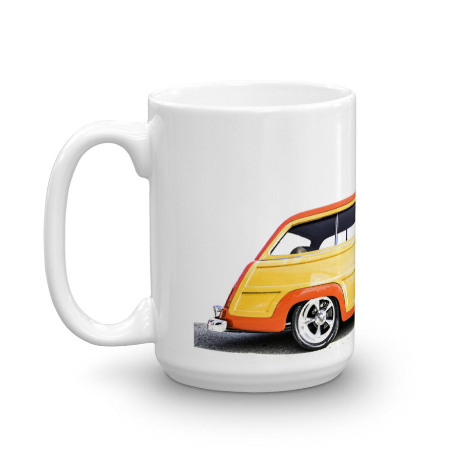 Ford Woody Wagon - Will Glover Featured Artist - Mug made in the USA