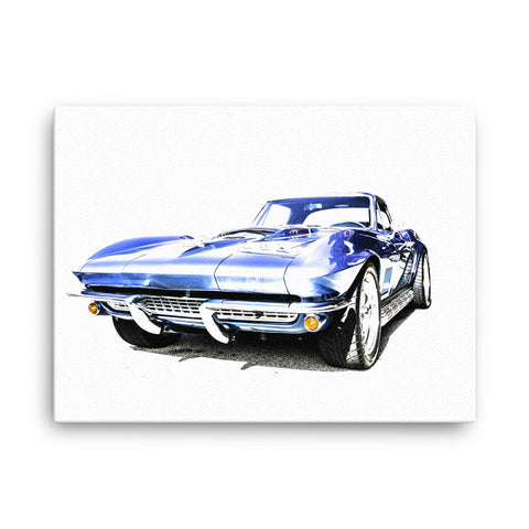 1967 Corvette Sting Ray - Will Glover Featured Artist - Canvas Print