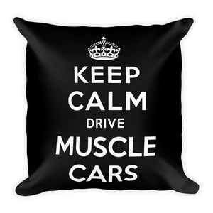 Keep Calm Drive Muscle Cars - Modern Rodder - Soft Pillow