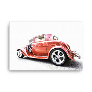 1932 Ford Three Window Hot Rod - Will Glover Featured Artist - Canvas Print
