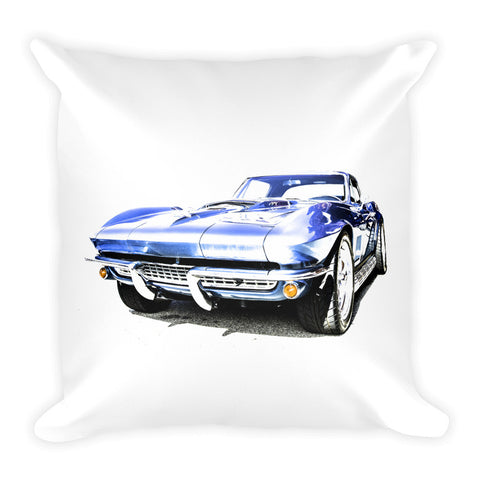 1967 Corvette Sting Ray - Will Glover Featured Artist - Soft Pillow