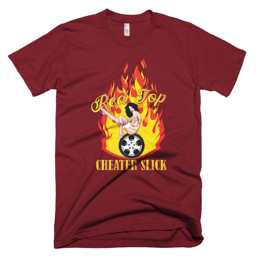 Red Top Cheater Slicks - Modern Rodder - Men's T-Shirt