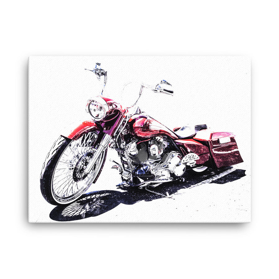 Custom Harley Motorcycle - Will Glover Featured Artist - Canvas Print