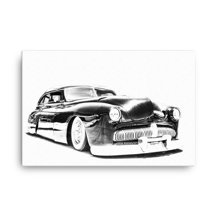 Mercury Lead Sled Street Rod - Will Glover Featured Artist - Canvas Print