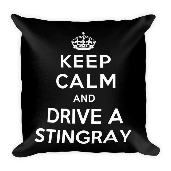 Keep Calm and Drive A Stingray - Modern Rodder - Soft Pillow