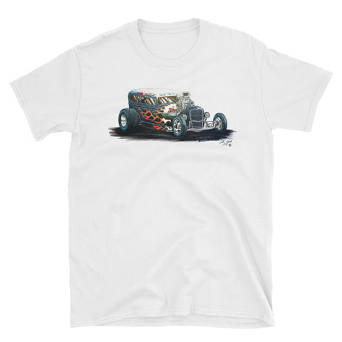 1931 Ford Vicky Flamed Hot Rod - Chris Morland Collection - Men's T-Shirt