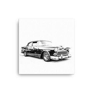 1955 Chevy Two-Door Post - Will Glover Featured Artist - Canvas Print