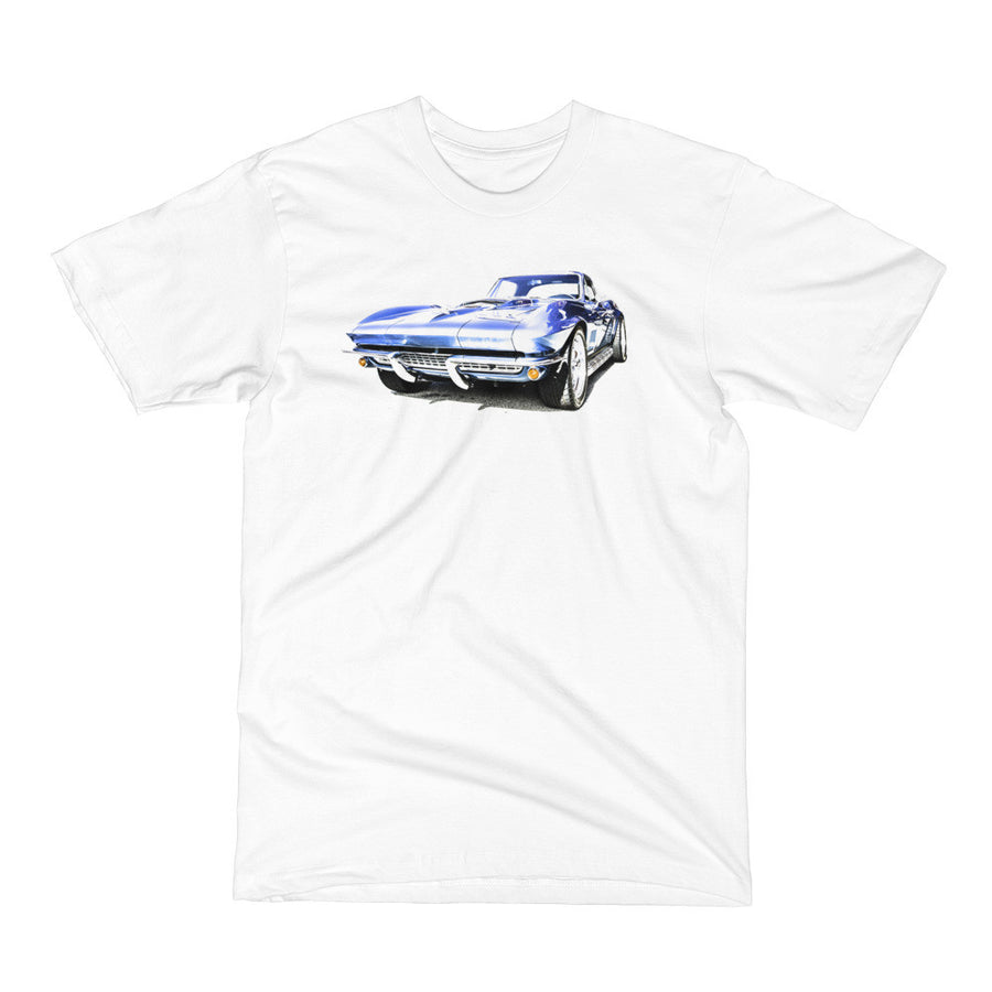 1967 Corvette Sting Ray - Will Glover Featured Artist - Men's Short Sleeve T-Shirt