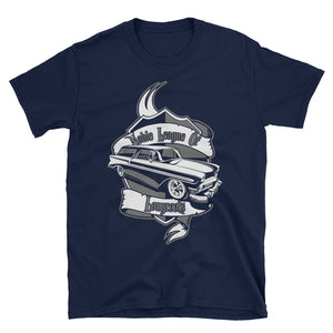 Noble League of Long Roofs - Cool Wagon Shirt - Jeremy Ratchford Collection - Men's T-Shirt
