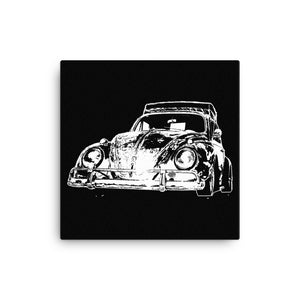 Custom Dub Patina Beetle - Modern Rodder - Canvas Print