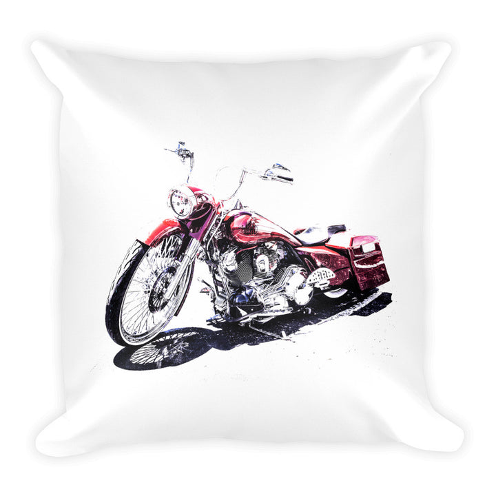 Custom Harley Motorcycle - Will Glover Featured Artist - Soft Pillow