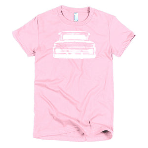 1965 Chevy C10 Big Window Pickup - Modern Rodder - Women's T-Shirt