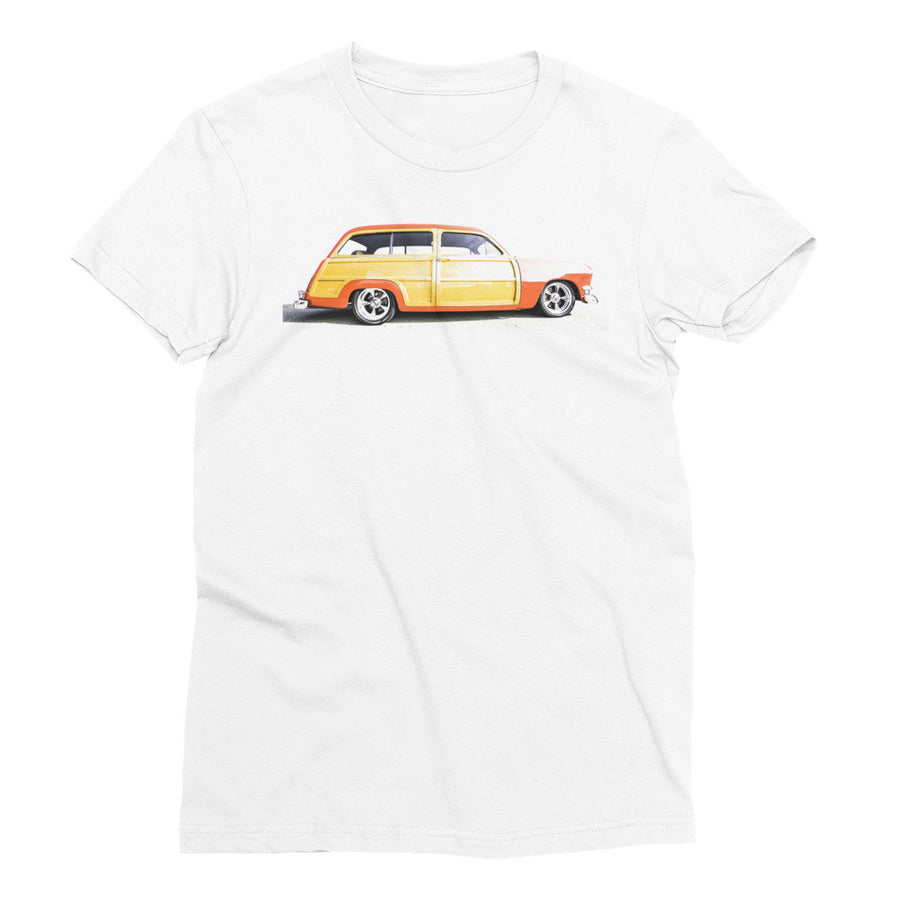 Ford Woody Wagon Hot Rod - Will Glover Featured Artist - Women's Short Sleeve T-Shirt