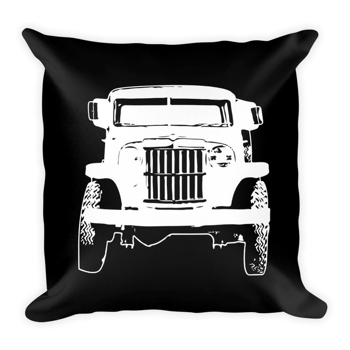 1962 Willys Jeep Pickup Truck - Modern Rodder - Soft Pillow