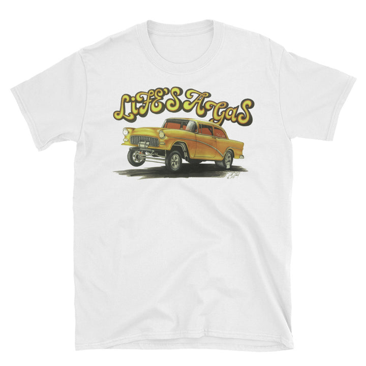 1955 Chevy Gasser - Life's a Gas - Chris Morland Collection - Men's T-Shirt
