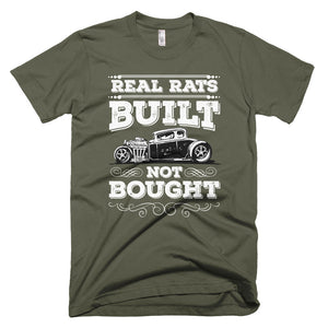 Real Rats - Built NOT Bought - Modern Rodder - Short Sleeve Men's T-Shirt