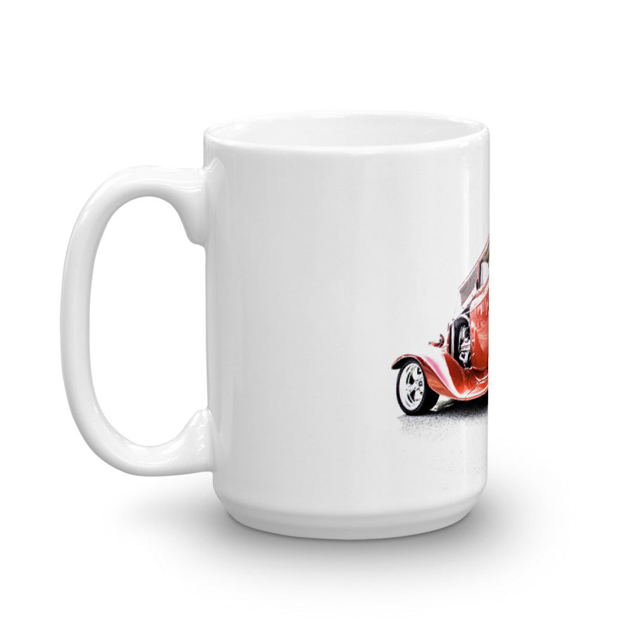 1932 Ford Three Window Hot Rod - Will Glover Featured Artist - Mug made in the USA