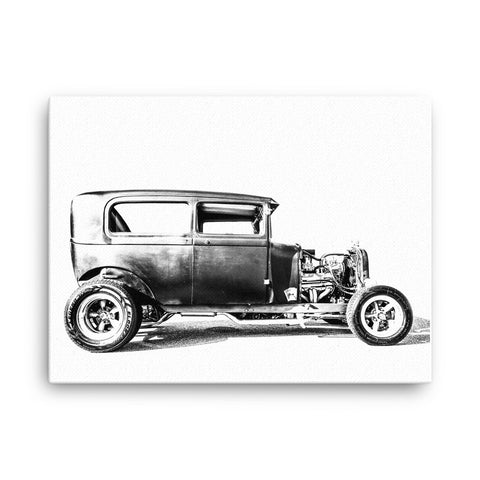 Ford Vicky Rat Rod - Will Glover Featured Artist - Canvas Print