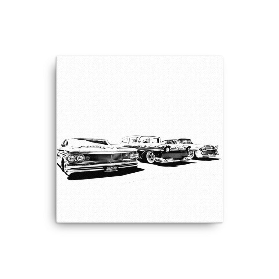 Classic Car Collection - Will Glover Featured Artist - Canvas Print
